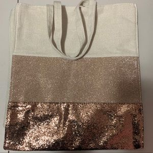 New Clarins sparkly tote
